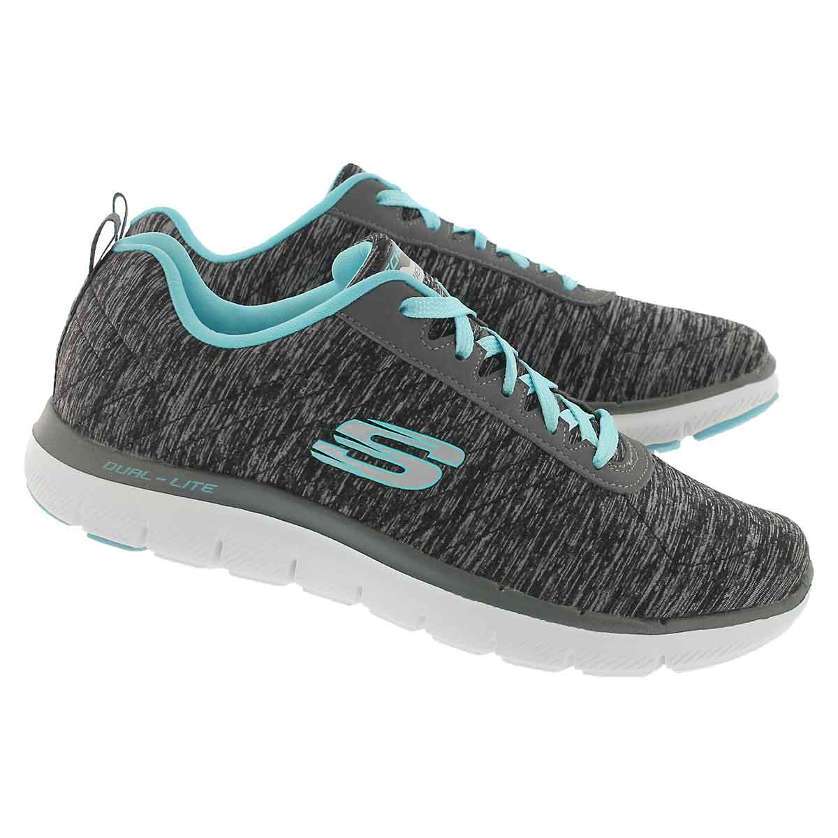 Lds Flex Appeal 2.0 bk/bl lace up runner