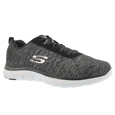 Skechers Women's FLEX APPEAL 2.0 black lace up runner