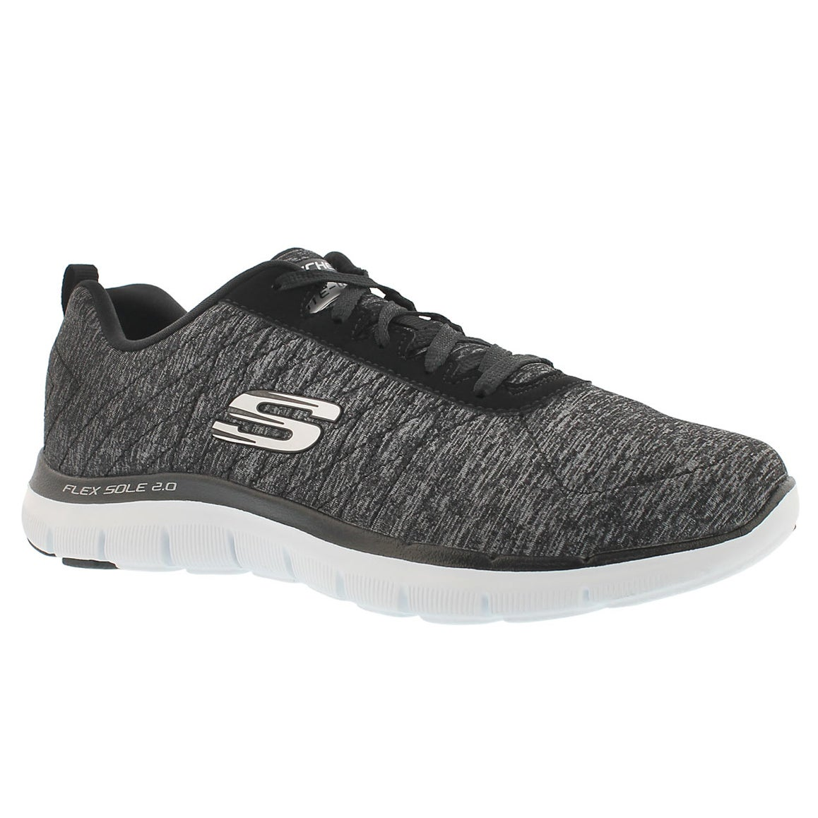 Lds Flex Appeal 2.0 blk lace up runner