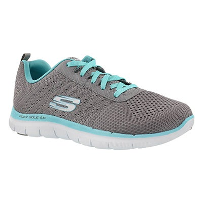 Skechers Women's FLEX APPEAL 2.0  grey/light blue runners