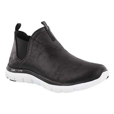 Skechers Women's DONE DEAL black/white slip on hi sneakers