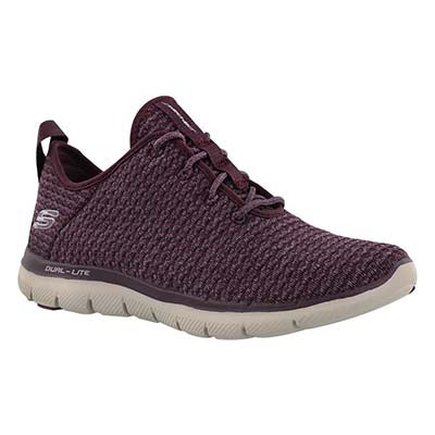 Lds Bold Move plum lace up sneaker