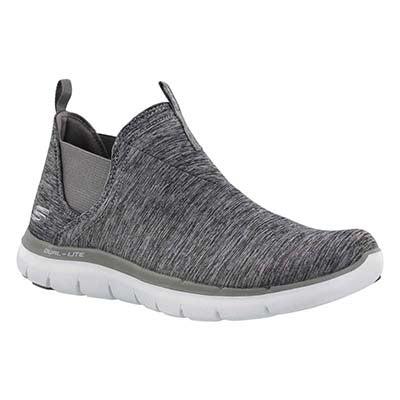 Lds High Card grey slip on gore sneaker