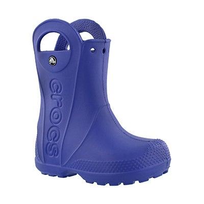 Crocs Kids' HANDLE IT cerulean blu waterproof rain boots