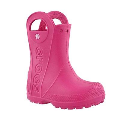 Grls Handle It candy pnk wtpf rainboot