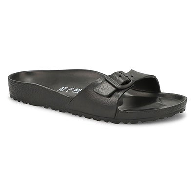 Lds Madrid blk EVA slide sandal - Narrow