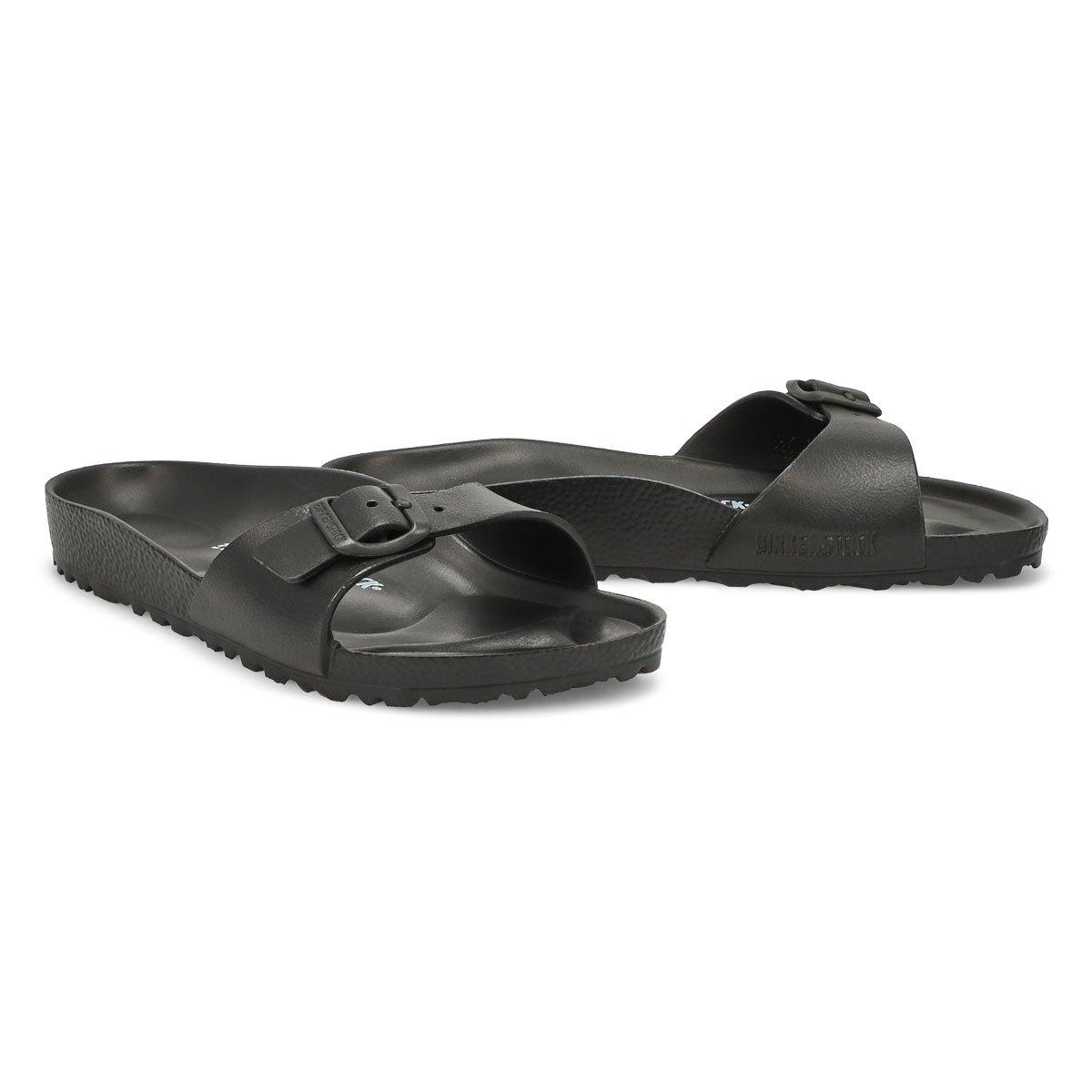 Lds Madrid blk EVA slide sandal - Narrow