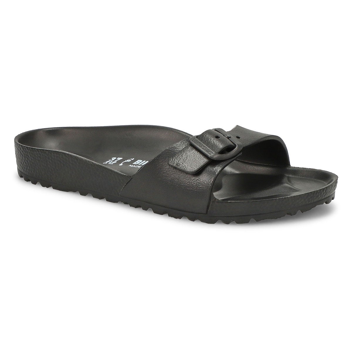 Women's MADRID black slide sandals - Narrow