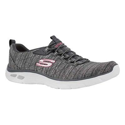 Lds Empire D'Lux grey slip on sneaker