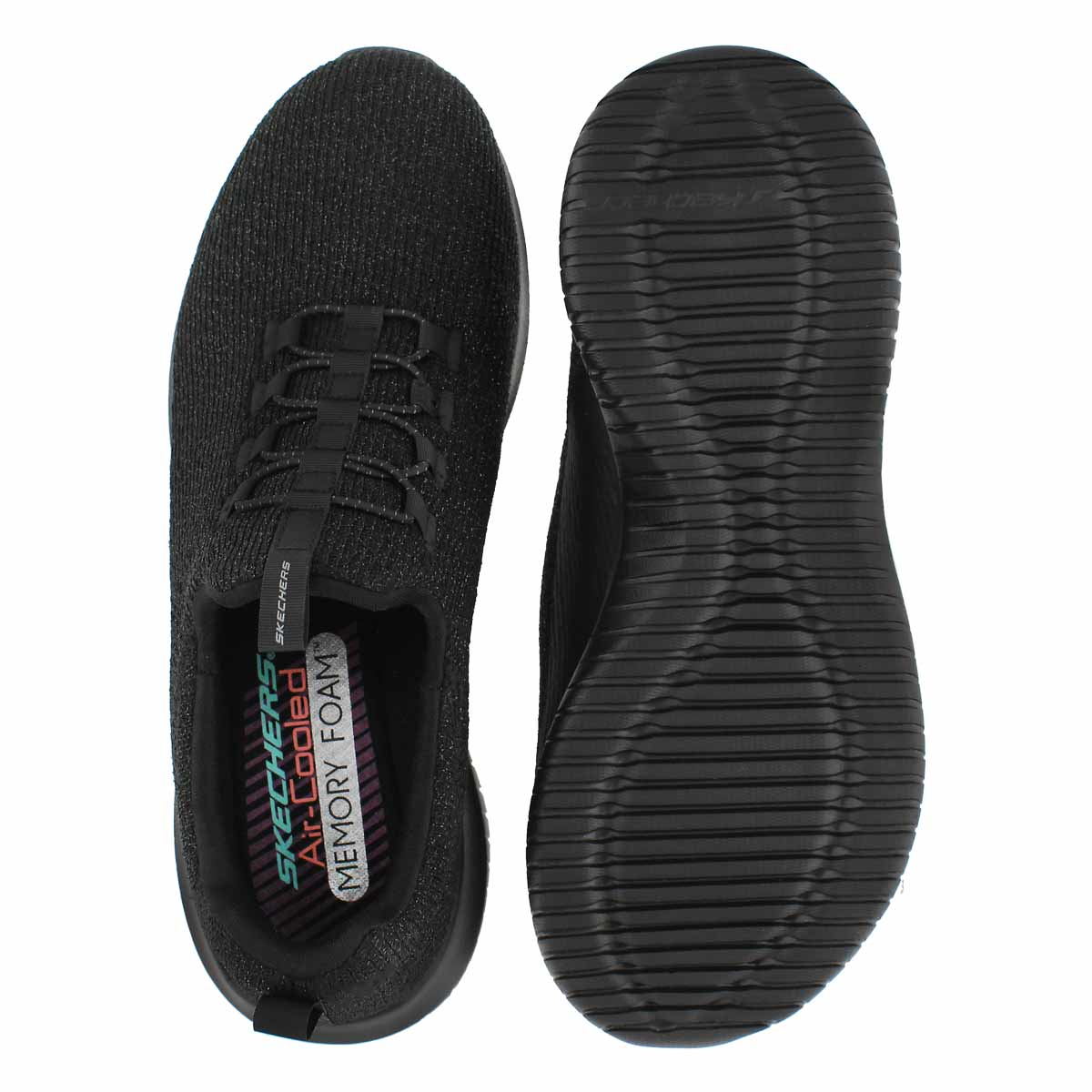 Lds Ultra Flex blk/blk slip on snkr