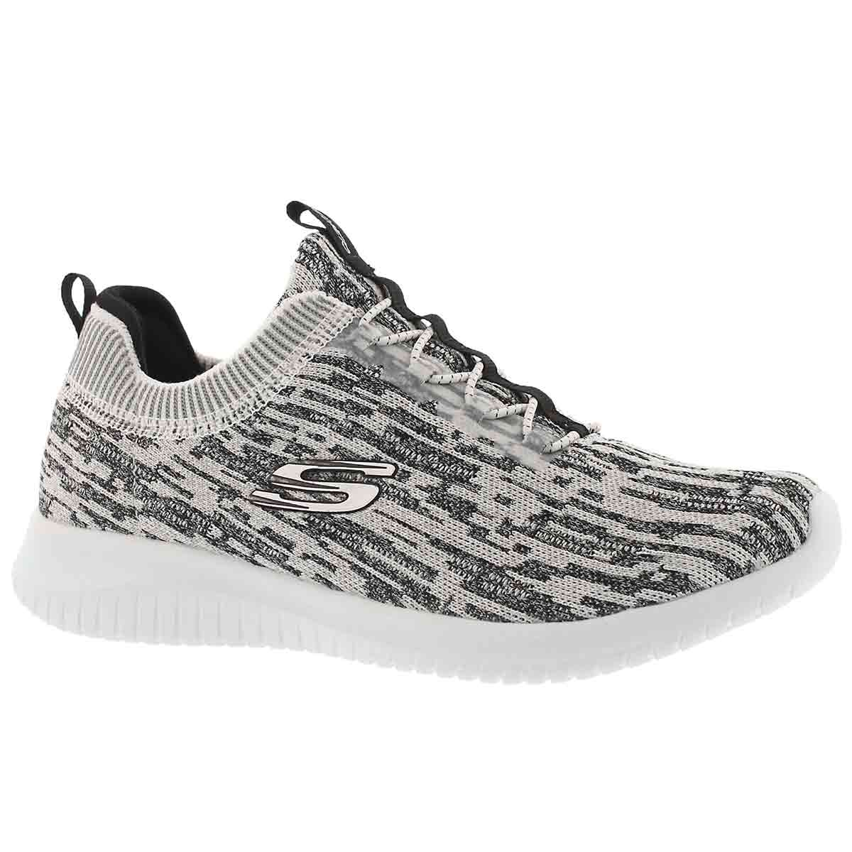 Women's ULTRA FLEX BRIGHT HORIZON wht/bk sneakers