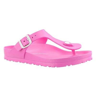 Birkenstock Women;s GIZEH EVA neon pink thong sandals