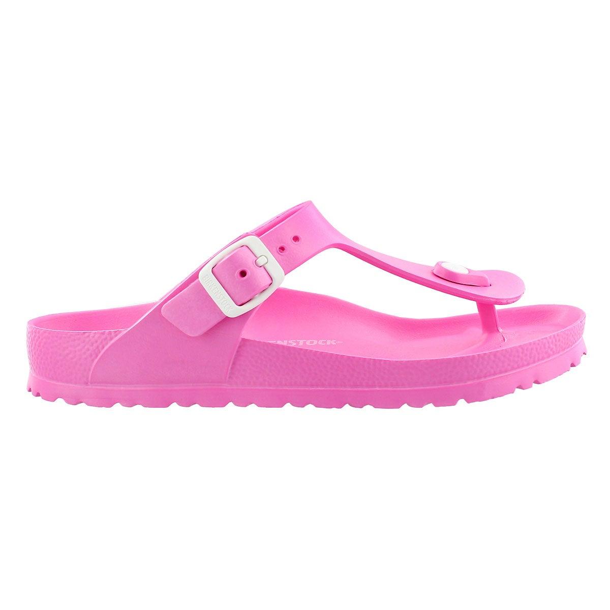 Lds Gizeh EVA neon pink thong sandal