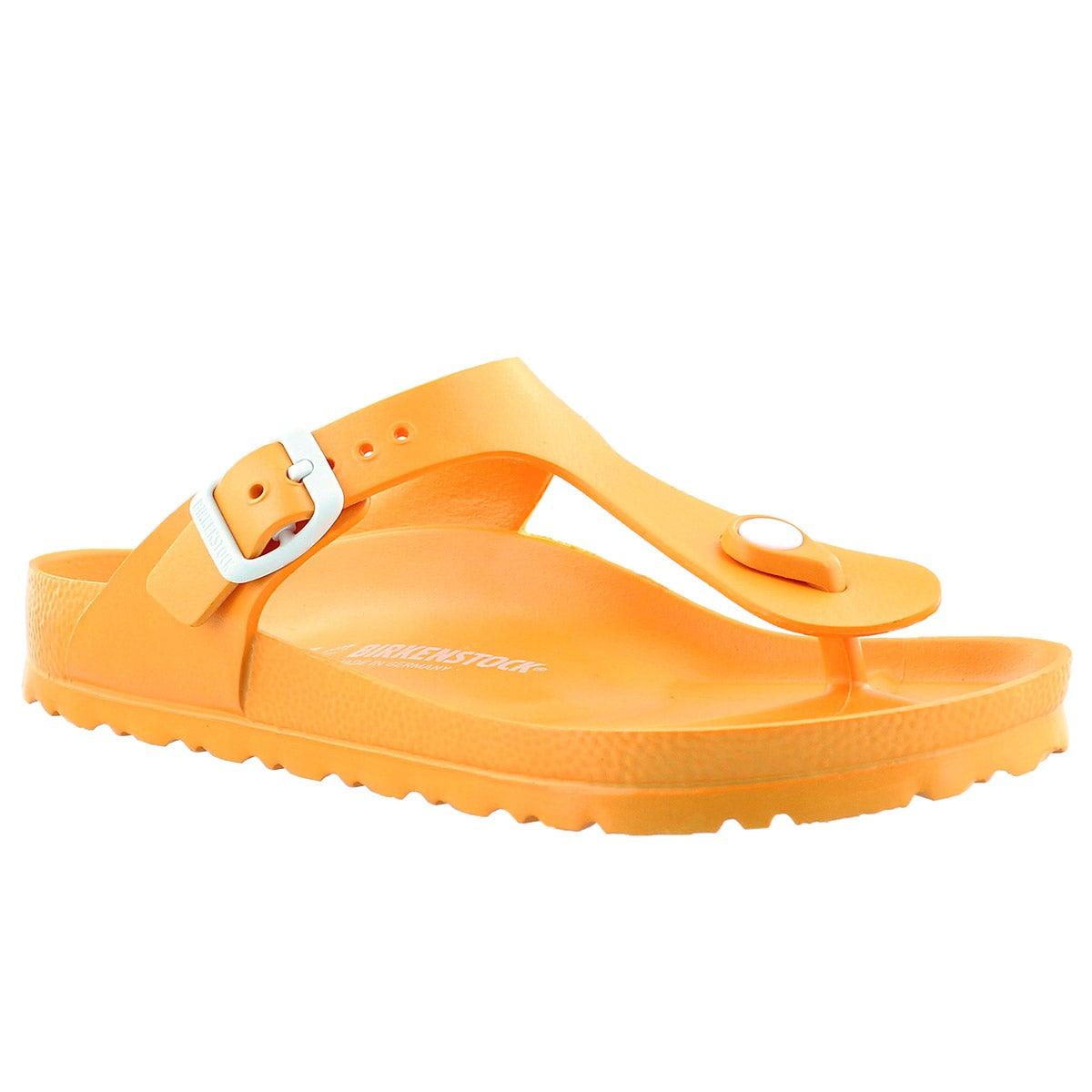 Lds Gizeh EVA neon orange thong sandal