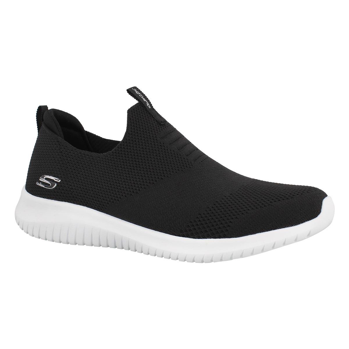 Women's ULTRA FLEX black/white slip on sneakers