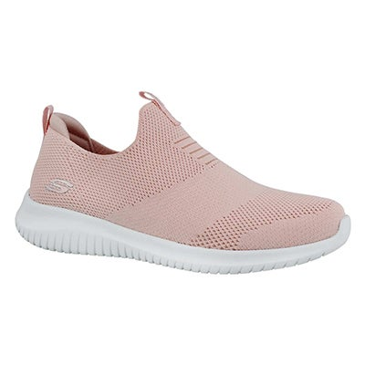 Lds Ultra Flex lt pink slip on sneaker