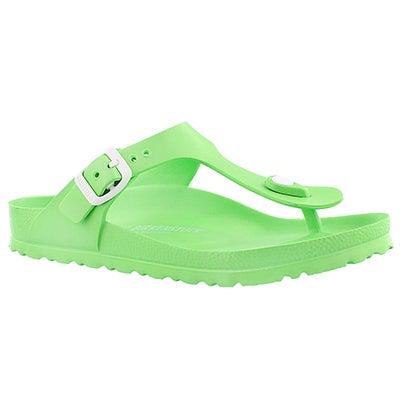 Birkenstock Women's GIZEH EVA neon green thong sandals