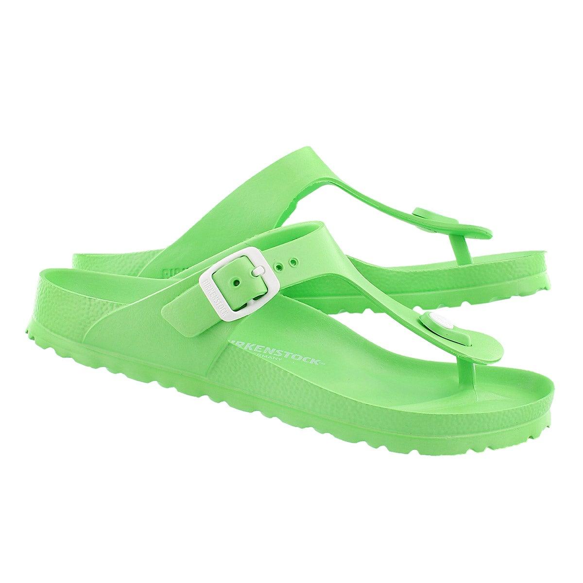 Sandale tong GIZEH EVA, vert fluo, femme