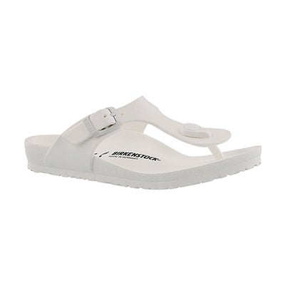 Birkenstock Girls' GIZEH EVA white thong sandals