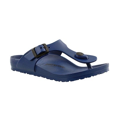 Birkenstock Girls' GIZEH EVA navy thong sandals