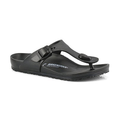 Birkenstock Girls' GIZEH EVA black thong sandals