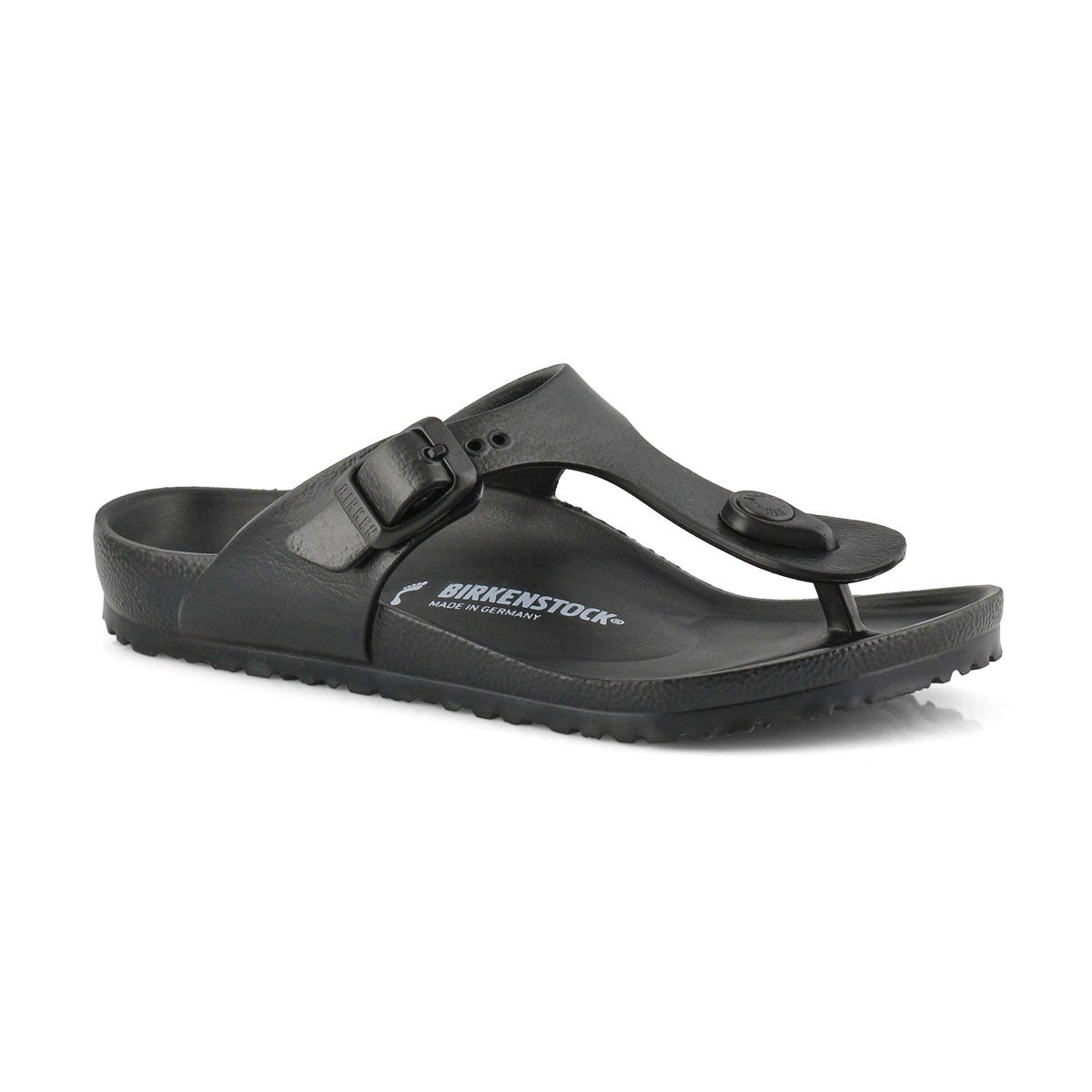 Girls' GIZEH EVA black thong sandals
