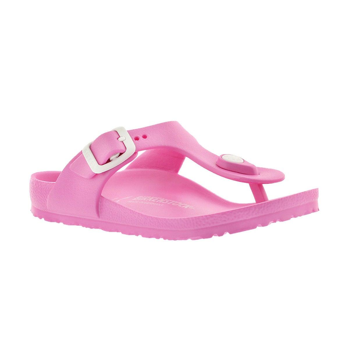 Girls' GIZEH EVA fuchsia thong sandals - Narrow