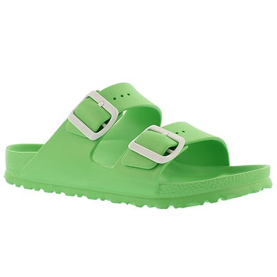 Birkenstock Women's ARIZONA EVA neon green sandals - Narrow