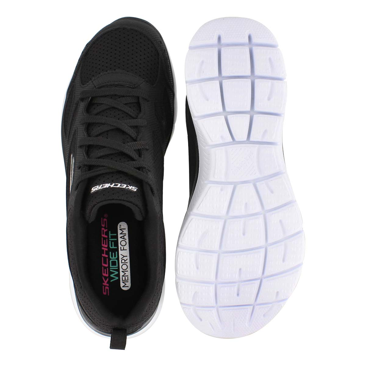 Lds Summits Suited blk/wht sneaker- wide