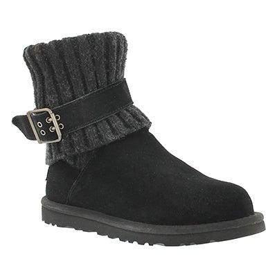 UGG Australia Women's CAMBRIDGE black sheepskin buckle boots