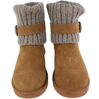 UGG Australia Women's CAMBRIDGE chestnut sheepskin buckle boots