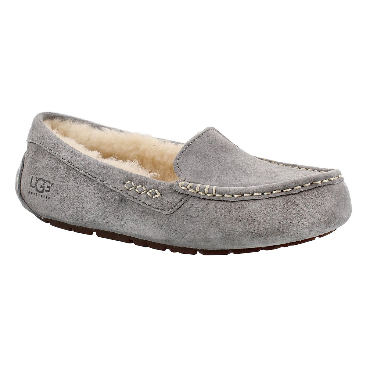 Women's ANSLEY grey sheepskin moccasins