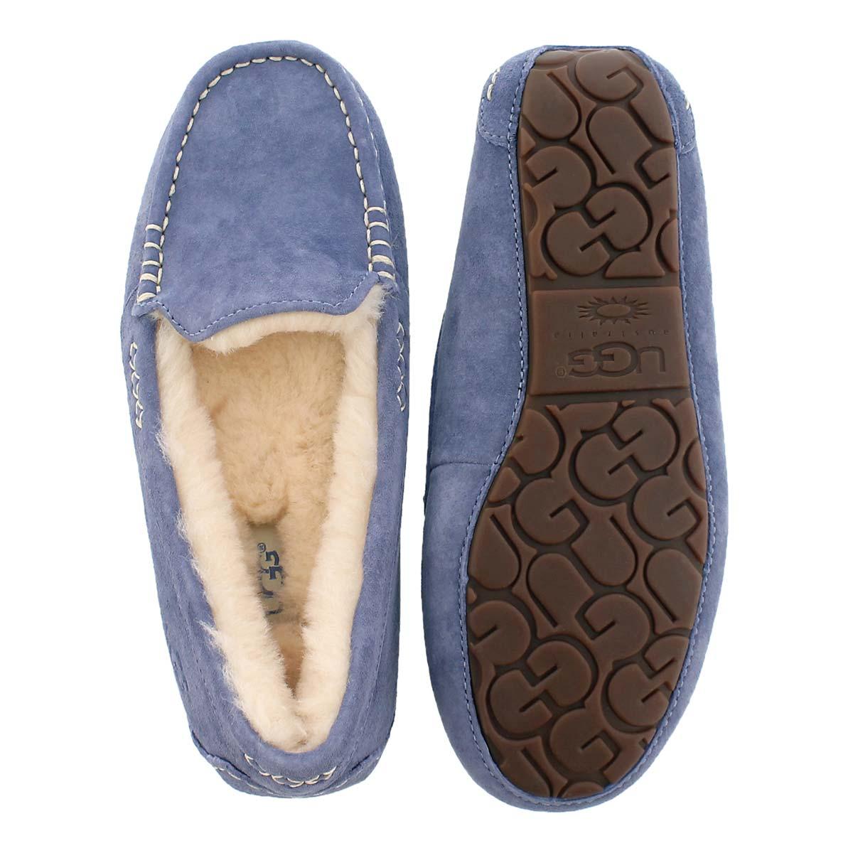 Mocassin ANSLEY, mouton bleu pyjama, fem