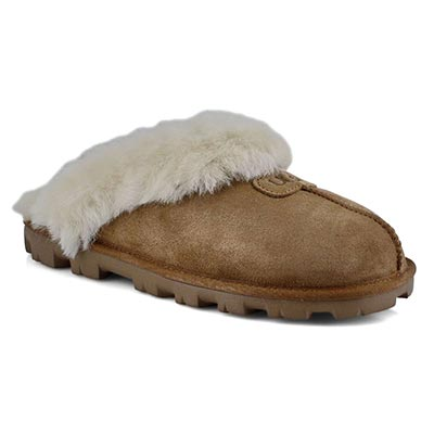 UGG Australia Women's COQUETTE chestnut sheepskin slippers