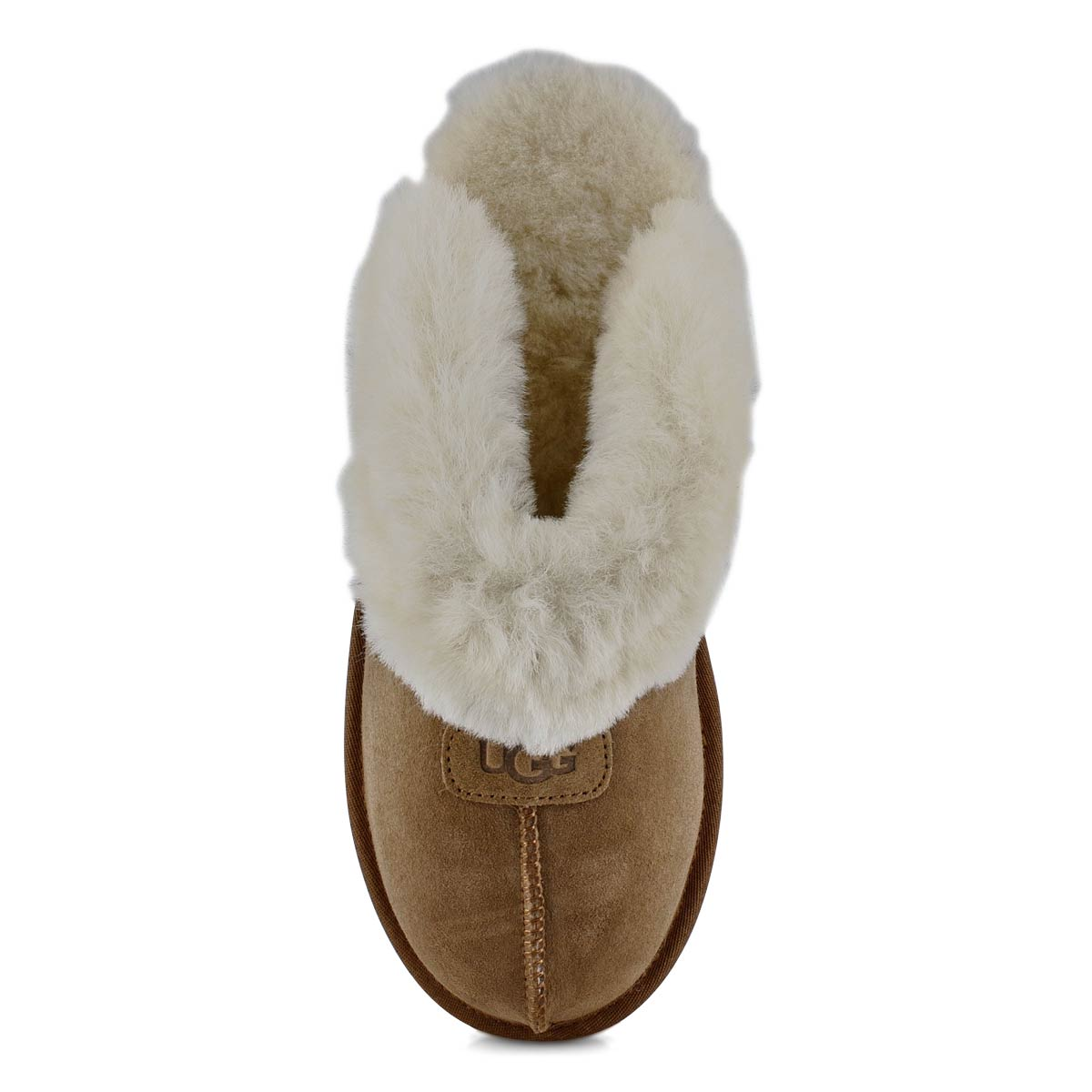 Lds Coquette chestnut sheepskin slipper