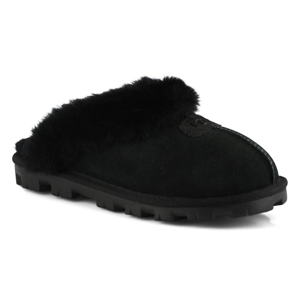 Lds Coquette black sheepskin slipper
