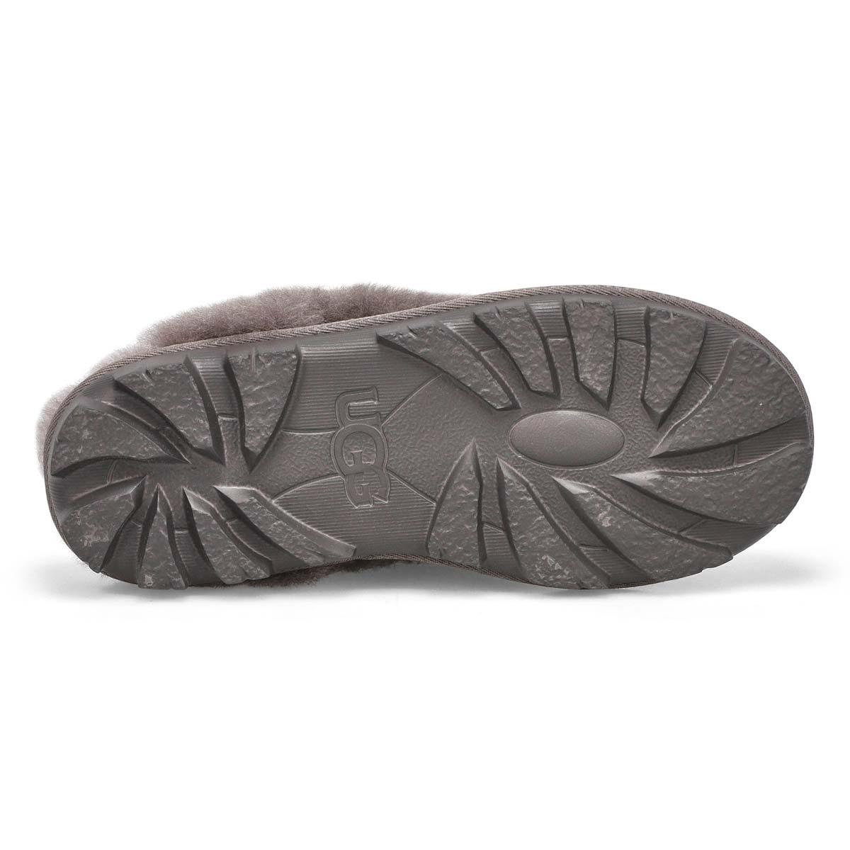 Lds Coquette grey sheepskin slipper