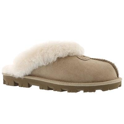 UGG Australia Pantoufles COQUETTE, peau de mouton sable, femmes