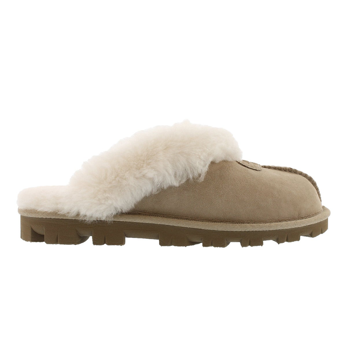 Lds Coquette sand sheepskin slipper