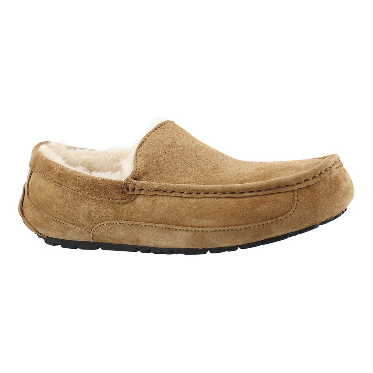 Men's ASCOT chestnut sheepskin fashion moccasins