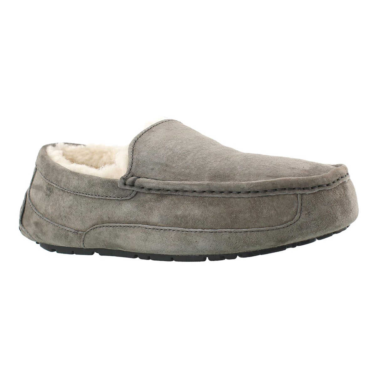 Mns Ascot charcoal sheepskin moccasin