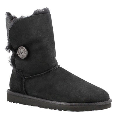 UGG Australia Botte peau de mouton noir BAILEY BUTTON, femmes