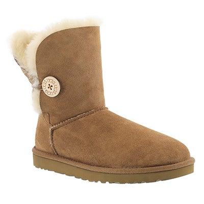 UGG Australia Women's BAILEY BUTTON chestnut sheepskin boots