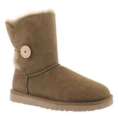 UGG Australia Botte peau mouton brun BAILEY BUTTON, femmes