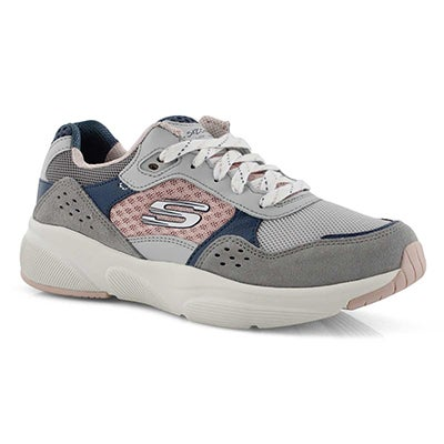 Lds Meridian Charted gry/pnk sneaker