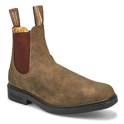 Blundstone Unisex CHISEL TOE brown pull-on boots - UK SIZING