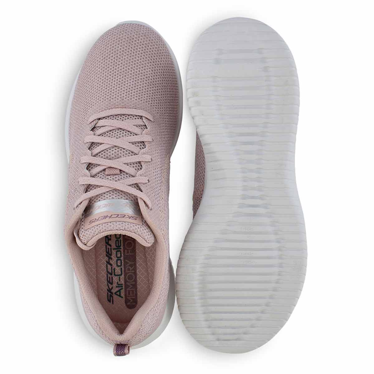 Lds Ultra Flex lt pnk lace up sneaker