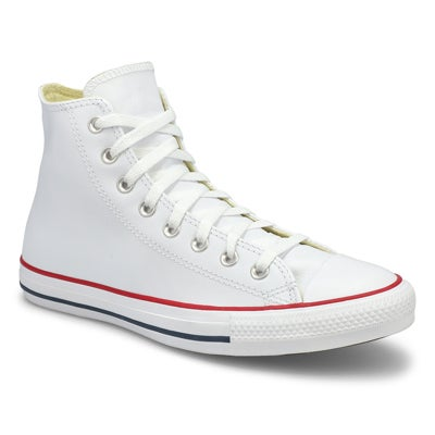 Lds CT All Star Leather white hi top