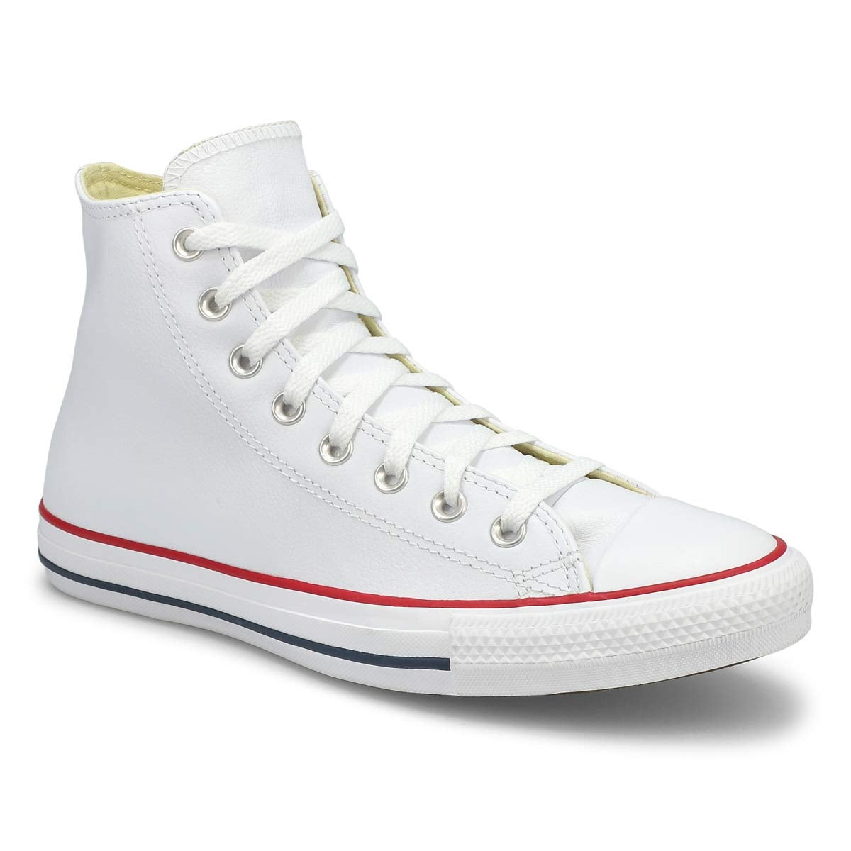 Lds CTAS Leather Hi wht snkr