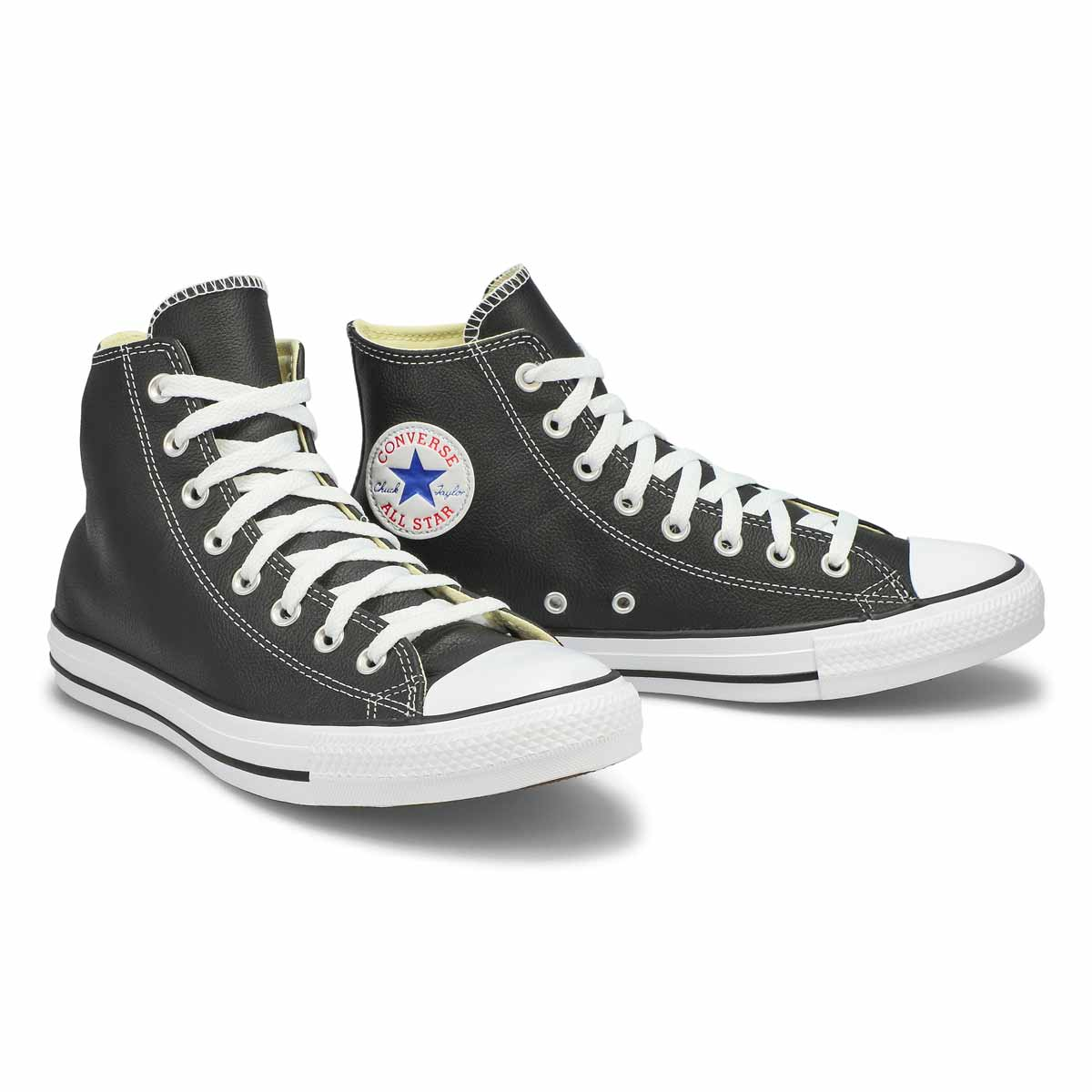 Mns CT All Star Leather black hi sneaker